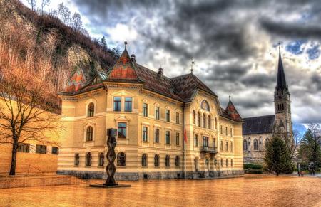 parliaments: Government Building in Vaduz - Liechtenstein Editorial