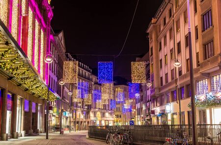 The center of Strasbourg decorated for Christmas - France photo