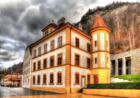 kaiser: Buildings at the Peter Kaiser square in Vaduz - Liechtenstein