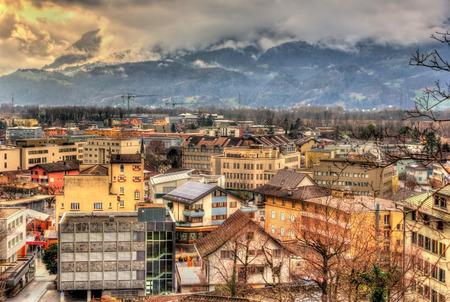 View of in Vaduz, the capital of Liechtenstein photo