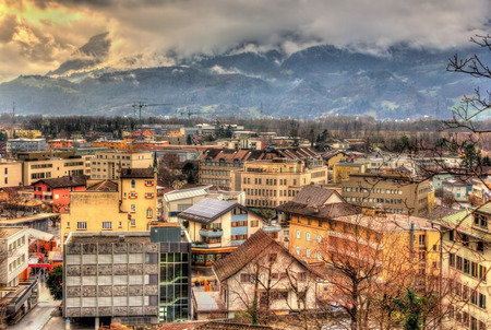 liechtenstein: View of in Vaduz, the capital of Liechtenstein Stock Photo