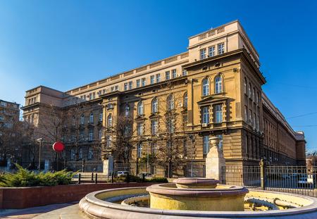 serbia xmas: Technical Faculties Building - Belgrade University, Serbia