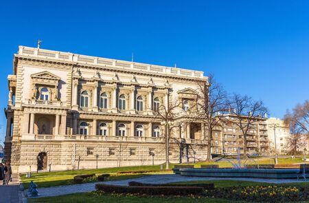 serbia xmas: View of Belgrade City Hall - Serbia Stock Photo