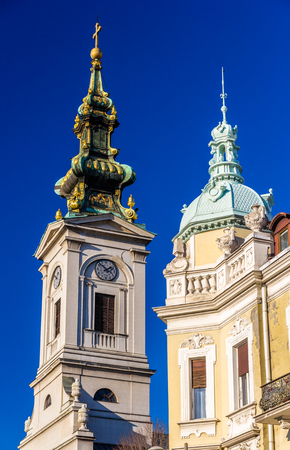serbia xmas: Cathedral Church of St. Michael the Archangel in Belgrade - Serbia Stock Photo