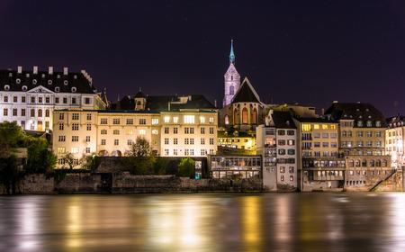 View of Basel old city - Switzerland 免版税图像