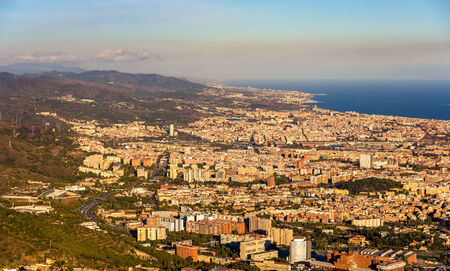 cor: View of Barcelona from the top of Sagrat Cor temple
