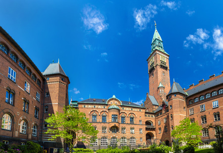 municipal court: Courtyard of Copenhagen City Hall - Denmark