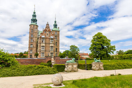 Entrance to the Rosenborg Castle in Copenhagen, Denmark