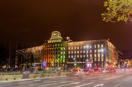 serbia xmas: Main Post Office of Serbia in Belgrade