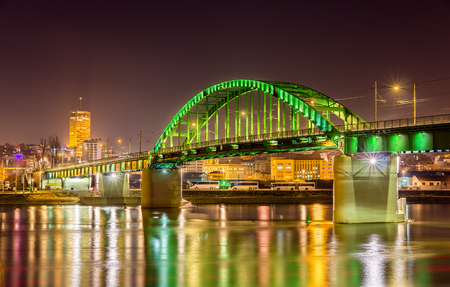 Old Sava Bridge in Belgrade - Serbia 版權商用圖片