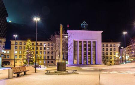 liberation: Liberation Monument in front of Landhaus in Innsbruck - Austria Editorial