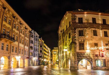 The city center of Innsbruck on Christmas - Austria photo