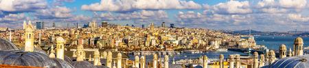 Panorama of Istanbul from the Sueymaniye Mosque - Turkey photo