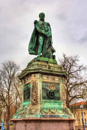 generals: Statue of Antoine Drouot, one of Napoleons generals, in Nancy, France