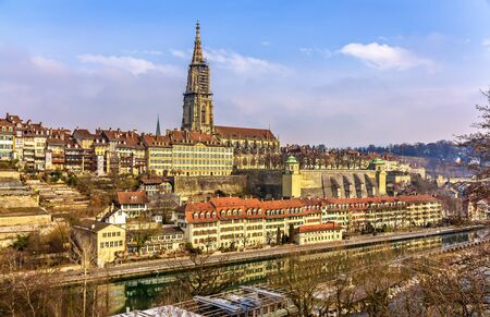 munster: View of Bern with its Munster - Switzerland