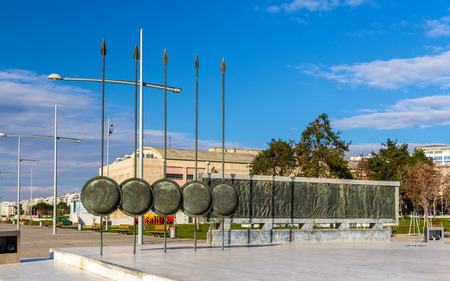 alexander the great: Monument of Alexander The Great in Thessaloniki, Greece Stock Photo