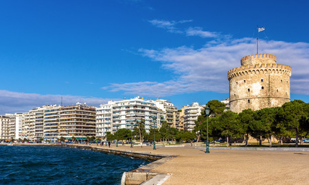 greece: White Tower of Thessaloniki in Greece