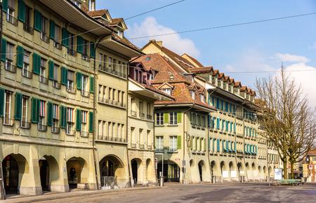 canton berne: Buildings on Waisenhausplatz in Bern - Switzerland
