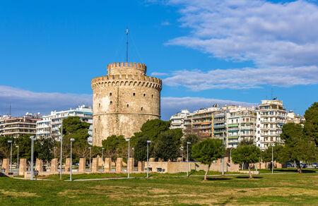 thessaloniki: White Tower of Thessaloniki in Greece