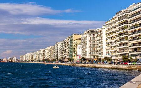 thessaloniki: Seafront in Thessaloniki - Greece Stock Photo