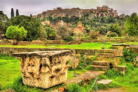 corinthian: Corinthian capital at the Ancient Agora of Athens - Greece