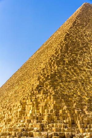 Edge of the Great Pyramid of Giza - Egypt Banco de Imagens