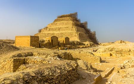 djoser: View of the Step Pyramid of Djoser at Saqqara - Egypt