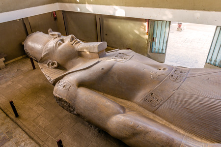 ancient buildings: The Statue of Ramesses II (3200 year old) in Memphis - Egypt