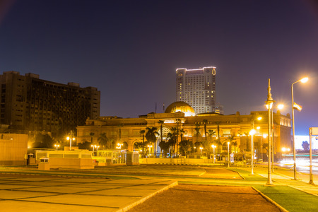 egypt revolution: The Egyptian Museum at Tahrir Square in Cairo on January 1, 2015 Editorial