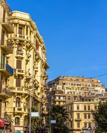 egypt revolution: Buildings in the City Center of Cairo - Egypt