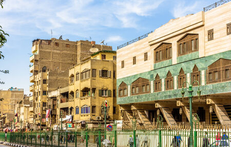 egypt revolution: Street in the Islamic district of Cairo - Egypt