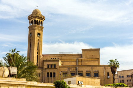 imam: Imam Mohammed Abdou Amphitheatre of Al-Azhar University in Cairo Stock Photo