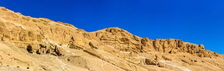 hill of the king: Landscape of the Valley of the Kings - Egypt