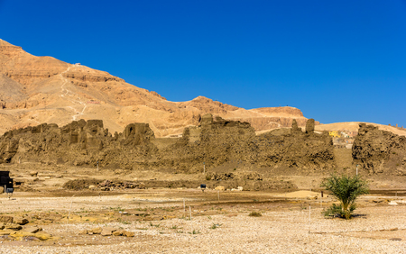 3rd ancient: Walls of the Madinet Habu Temple on the West Bank of the Nile - Egypt
