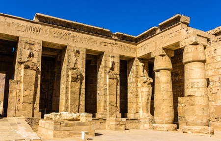 mortuary: Mortuary Temple of Ramses III. near Luxor in Egypt