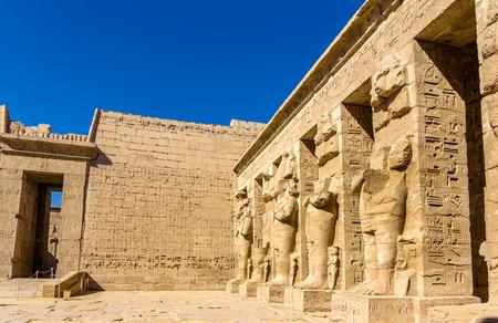 mortuary: Inside the Mortuary Temple of Ramses III near Luxor - Egypt