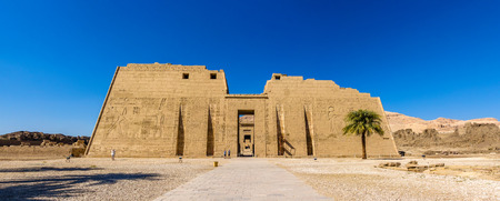 3rd ancient: The mortuary Temple of Ramses III near Luxor in Egypt Stock Photo