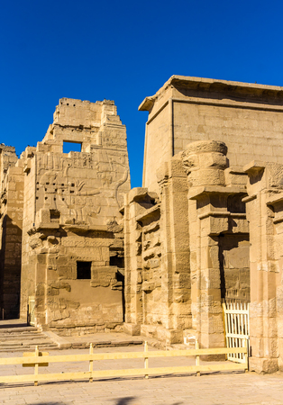 mortuary: The mortuary Temple of Ramses III near Luxor in Egypt Stock Photo
