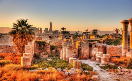 ancient egyptian culture: View of the Karnak temple in the evening - Luxor, Egypt