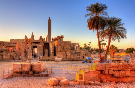 egypt: View of the Karnak Temple Complex in Luxor - Egypt Stock Photo