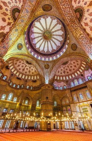 sultan: Interior of Sultan Ahmet Mosque (Blue Mosque) in Istanbul, Turkey