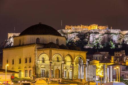 acropolis: Tzistarakis Mosque and Acropolis of Athens - Greece
