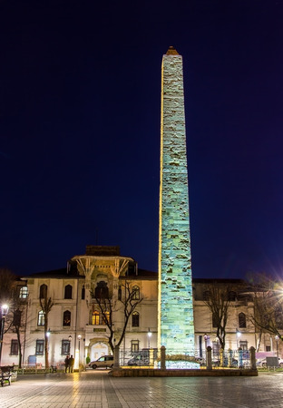 walled: Walled Obelisk (Constantine Obelisk) in Istanbul - Turkey Stock Photo