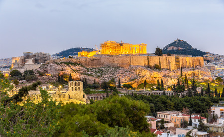 View of the Acropolis of Athens - Greece 写真素材