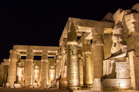 ancient egyptian culture: Luxor temple at night - Egypt