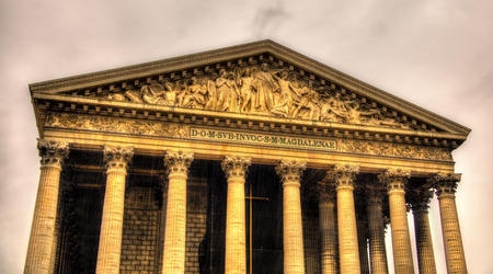 the madeleine: Eglise de la Madeleine in Paris, France