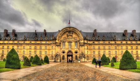 Facade of Les Invalides in Paris, France