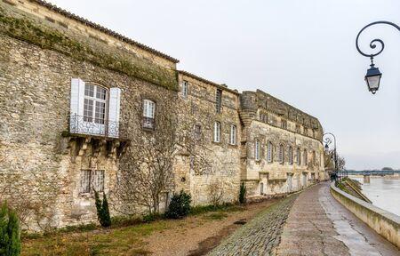 arles: North facade of Reattu Museum in Arles, France Editorial