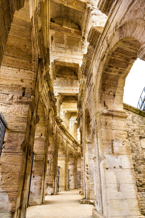 architectural heritage of the world: Roman amphitheatre in Arles - UNESCO world heritage in France