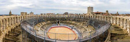 amphitheatre: Roman amphitheatre in Arles - UNESCO world heritage in France